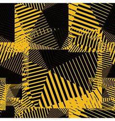 Contrast creative continuous lines pattern vector image