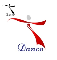 Dancing woman abstract icon or symbol vector