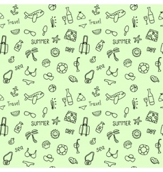 Seamless doodle pattern with elements of leisure vector