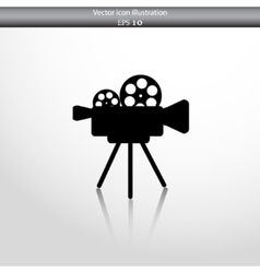 Camera web icon vector