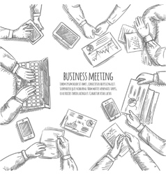 Business Meeting Sketch vector image