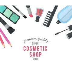 Beauty design cosmetic accessories for make-up vector