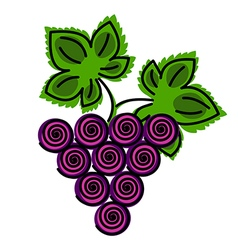 Ftuit decotarive ornamental blue grape vector