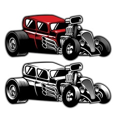 hotrod custom car vector image