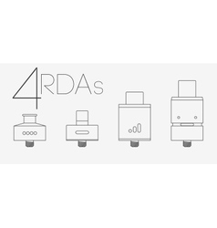 4 thin lines rdas set vector