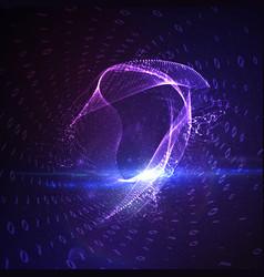 Abstract virtual digital tunnel vector