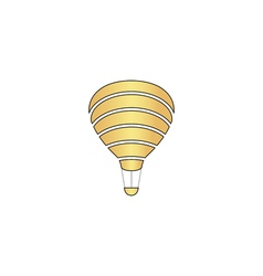Balloon journey computer symbol vector