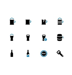 Beer duotone icons on white background vector image vector image