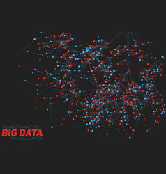 Big data tree visualization vector