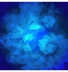 Blue Polygonal Mosaic Background vector image