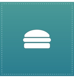 Burger flat icon vector