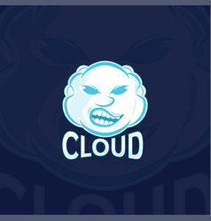 cloud sport logo template vector image vector image