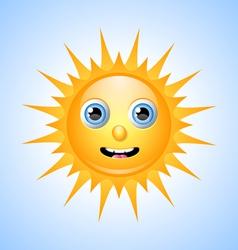 Cute Sun Character vector image