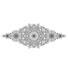 decorative floral mandala border element on white vector image