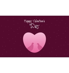 Dove with heart happy valentine day vector