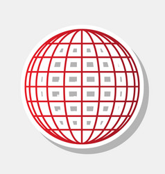 earth globe sign new year reddish icon vector image vector image