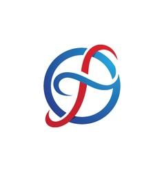F logo template vector
