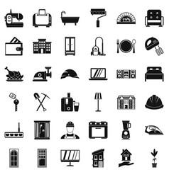 Good house icons set simple style vector