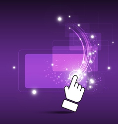 Hand drag magic button vector