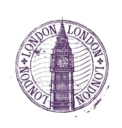 London logo design template Shabby stamp vector image vector image