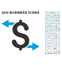 Payouts icon with flat set vector