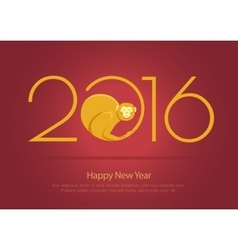 Print for monkey 2016 vector image