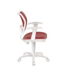Red office chair isolated on white vector image