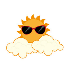 summer sun character icon vector image