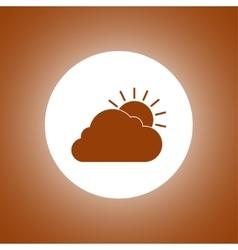sun cloud icon vector image vector image