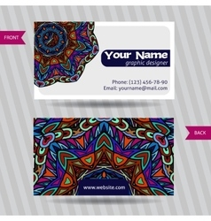 templates set of business card with vector image
