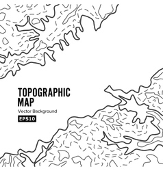 Topographic Map Background Concept Elevation vector image