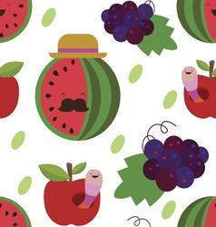 Water melon and grapes seamless print vector