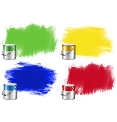 Watercolor in bucket and wall vector