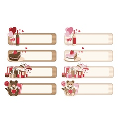 Set of romantic banners vector