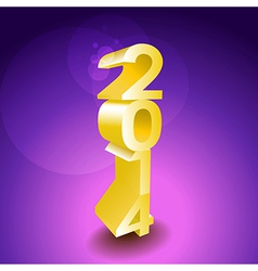 2014 sign vector image vector image