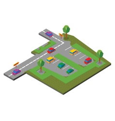 Parking area vector
