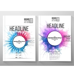Abstract circle white banners with place for text vector