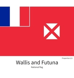 National flag of wallis and futuna with correct vector