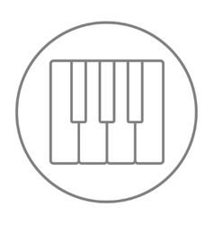 Piano keys line icon vector