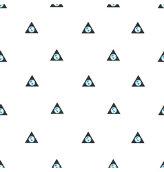 Terra Triangle Flat Seamless Pattern vector image