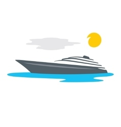 Yacht cartoon vector