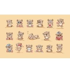 Isolated emoji character cartoon leopard cub vector