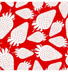 Strawberry pattern red vector