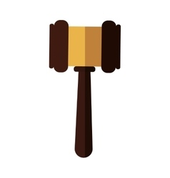 Hammer icon law and justice design vector