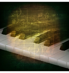 abstract grunge music background with piano keys vector image vector image