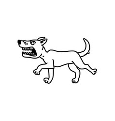 Barking dog sketch hand drawn with vector