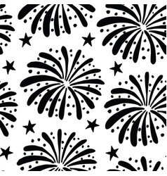 black and white seamless pattern with hand drawn vector image vector image