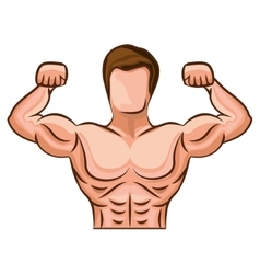 Bodybuilding muscle design vector image