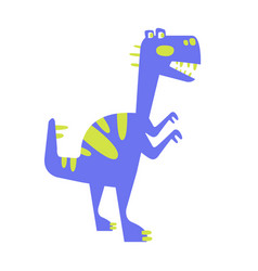 colorful funny dinosaur prehistoric animal vector image vector image