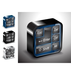 computers electronics icons keyboard button device vector image